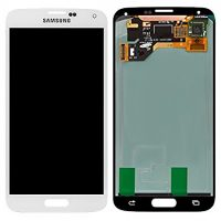 Galaxy S5 (G900I) LCD and Digitizer Touch Screen Assembly – White