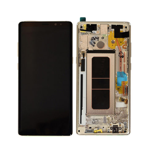 Galaxy Note 8 (N950F) LCD and Digitizer Touch Screen Assembly (Samsung Service Pack) – Grey