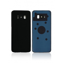 Galaxy S8 (G950) Rear Glass With Camera Lens -Black