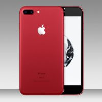 Tempered Glass Screen Protector for iphone – 7 plus (Red) (Back)