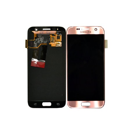Galaxy S7 (G930F) LCD and Digitizer Touch Screen Assembly (Samsung Service Pack) – Rose Gold
