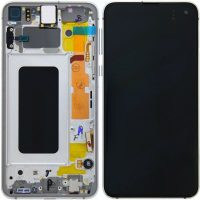 Galaxy S10 Plus (G975) LCD and Digitiser Touch Screen Assembly (Service Pack) – Prism White