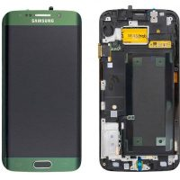 Galaxy S6 Edge (G925I) LCD and Digitizer Touch Screen Assembly (Service Pack) – Emerald Green