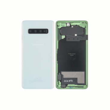 Samsung Galaxy S10 G973 Rear Glass With Camera Lens Prism White