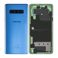 Galaxy S10 Plus (G975) Rear Glass WIth Adhesive & Camera Lens- Prism Blue