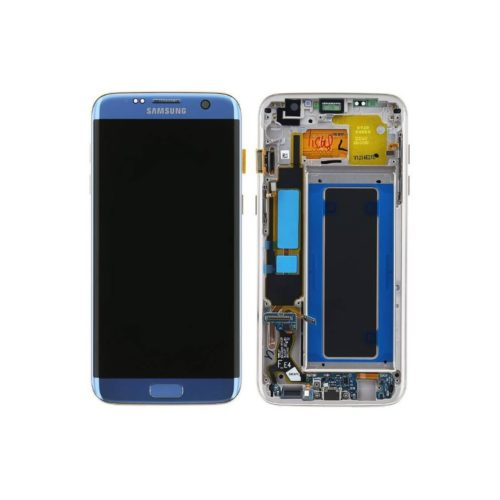 s7 edge lcd blue