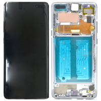 Galaxy S10 5G (G977) LCD and Digitiser Touch Screen Assembly (Service Pack) – Crown Silver