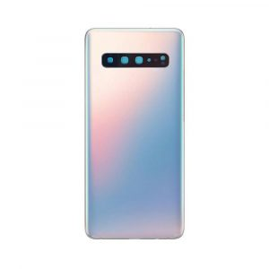 Galaxy S10 5G (G977) Rear Glass With Adhesive & Camera Lens – White