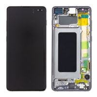Galaxy S10 Plus (G975) LCD and Digitiser Touch Screen Assembly (Service Pack) – Prism Black