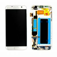 Galaxy S7 Edge (G935F) LCD and Digitizer Touch Screen Assembly (Service Pack) – Silver