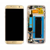 Galaxy S7 Edge (G935F) LCD and Digitizer Touch Screen Assembly (Service Pack) – Gold
