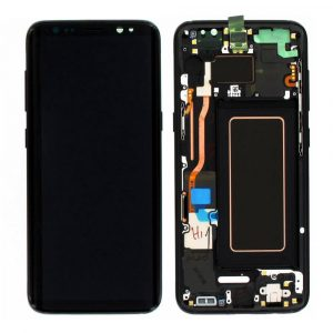 Galaxy S8 (G950F) LCD and Digitizer Touch Screen Assembly (SSP)  – Black