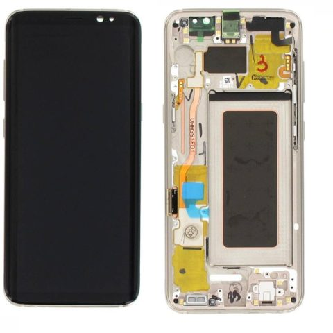Galaxy S8 (G950F) LCD and Digitizer Touch Screen Assembly (Service Pack)  – Gold