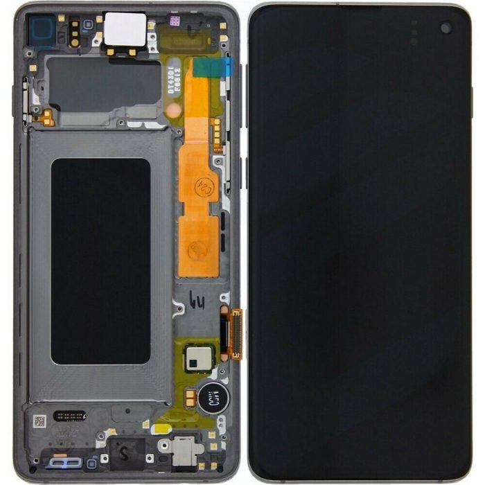 Galaxy S10 (G973) LCD and Digitiser Touch Screen Assembly (Service Pack) – Prism Black