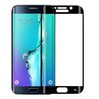 Tempered Glass Screen Protector (Glass, No Color Difference) for S7 Edge – Black
