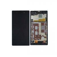 Xperia Z1 LCD and Digitizer Touch Screen Assembly With Frame – Black