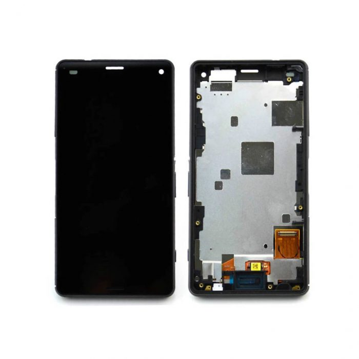 Xperia Z3 Compact LCD and Digitizer Touch Screen Assembly With Frame – Black